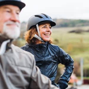 Active Agers Cycling in Active Wear